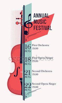 Télécharger - Affiche festival de musique classique — Illustration #79017482