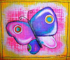 ©Thelma Zambrano - Mariposa para Jenna - Técnica mixta sobre lienzo 70 x 70 cm. Colección Privada