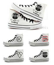 EXO XOXO Canvas Shoes Unisex Sneaker Korean Lace-ups Flat Leisure Shoe KPOP SM