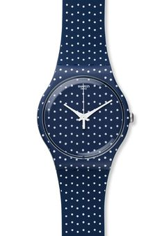 La montre à pois de Swatch http://www.vogue.fr/joaillerie/le-bijou-du-jour/diaporama/la-montre-a-pois-for-the-love-of-k-de-swatch/17099