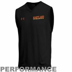 Under Armour Maryland Terrapins Classic V-Neck Sweater Vest - Black