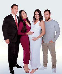 The Bella Family! John Cena Nikki Bella, Daniel Bryan Brie Bella, Nikki And Brie Bella, Divas Wwe, Wwe Total Divas, Bella Sisters, Wwe Girls, Wwe Womens, Wwe Photos