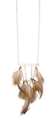 Trendy & Cute Clothing - ZAD - Lucky Feather Drape Necklace - chloelovescharlie.com | $17.00