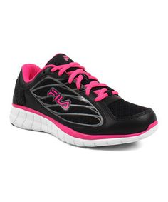 Love this Black & Pink Hyper Split 3 Sneaker by FILA on #zulily! #zulilyfinds
