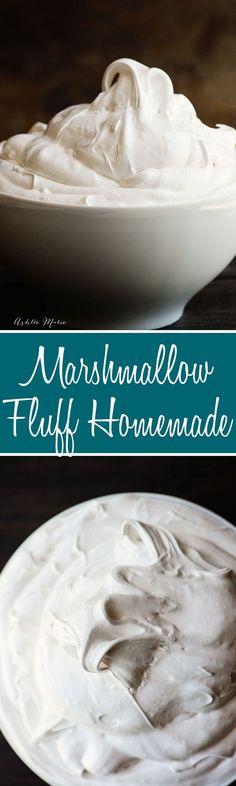 this marshmallow fluff, or frosting, is easy to make and so delicious - recipe and video tutorial (frosting recipes videos) Marshmallow Fluff Frosting, Homemade Marshmallow Fluff, Homemade Marshmallows, Köstliche Desserts, Delicious Desserts, Dessert Recipes, Yummy Food, Icing Recipes, Cupcake Recipes