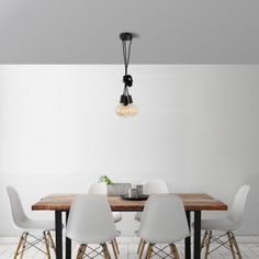 Suspension Spider Lamp 5 globes noir Filament Style