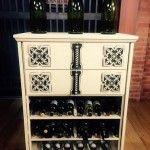 Mommy Moments: Dresser Turned Wine Rack!