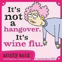 Hangover or wine flu