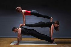 This is so much fun! Triple plank