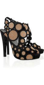Pierre HardyCrystal-embellished suede sandals