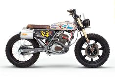 Pretty Fly for a CityFly: a cute Honda CLR125 scrambler from Dream Wheels Heritage of Portugal