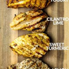 4 Easy Chicken Marinades + Living Lean & Clean with Just BARE Chicken videos! Lunch Recipes, New Recipes, Cooking Recipes, Favorite Recipes, Healthy Recipes, Easter Recipes, Diabetic Recipes, Easy Chicken Marinade, Chicken Marinades