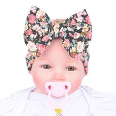 Binmer(TM) Baby Infant Kids Girls Bowknot Hairband Turban Bowknot Headwrap Hairband (Black) >>> You can get additional details at the image link.
