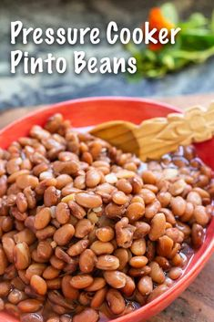 Pressure cooker recipes 294141419410647574 - This post shows how to cook pinto beans in a pressure cooker. In about 15 minutes, you can have rich, tender, creamy, ready-to-enjoy beans all soupy in a nutritious cooking broth. cooker Source by marykonion Pressure Cooker Beans, Instant Pot Pressure Cooker, Pressure Cooker Recipes, Pinto Beans Recipe Pressure Cooker, Slow Cooker, Mexican Food Recipes, Vegetarian Recipes, Dinner Recipes, Pinto Bean Recipes