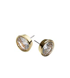 Crystal Gold-Tone Medium Stud Earrings by Michael Kors