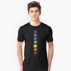 Rainbow Chakra artwork on t-shirts and all sorts of things at @RedBubble, by yours truly, Tangerine Meg :)