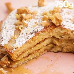 Banana and oatmeal pancakes - Dessert Recipes Gourmet Recipes, Sweet Recipes, Cake Recipes, Dessert Recipes, Healthy Recipes, Dessert Healthy, Oatmeal Pancakes, Banana Pancakes, Tasty Videos