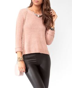 High-Low Open Knit Sweater