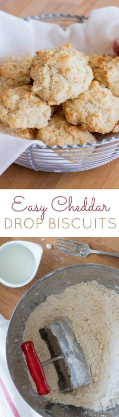 Super tender and incredibly rich and buttery, these Cheddar Drop Biscuits are simple and easy to prepare. A perfect recipe for kids to prepare on their own!