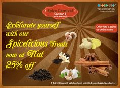 Our Spice Carnival Season II is back….Now spice up your beauty and life with exciting discount on all spice based products…flat 25% off. Offer in-store as well as online on www.thenaturesco.com from 7th −24th October.