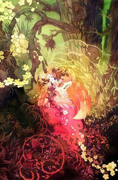 Dawnsing Wood Fox by blix-it