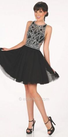 April Studded  Prom Dress by Mon Cheri Shorts  #dress #dresses #prom #promdress #moncheri #moncherishorts #designer #fashion #edressme