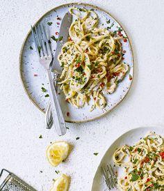 Lemon, ricotta, fennel and chili linguine