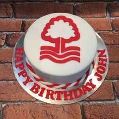 Mum Birthday, Birthday Cakes, Birthday Ideas, Football Cakes For Boys, Nottingham Forest Fc, Forest Cake, How To Make Cake, Icing, Cake Decorating