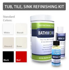 Easy DIY Bathtub Refinishing and Tile Kit 2 Part Epoxy Kit (White ...