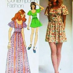 fashion 1970....I made several dresses from this pattern!!!