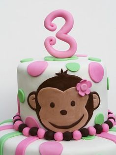 monkey cake...dots/stripes always look great, have used many times together!