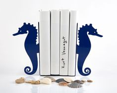 Bookends  Sea horse  blue unique stylish by DesignAtelierArticle, €34.00