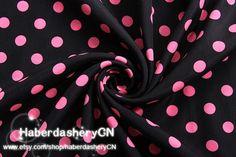 1 Meter Chiffon Fabric CH88  Polka Dots par haberdasheryCN sur Etsy, $3.89