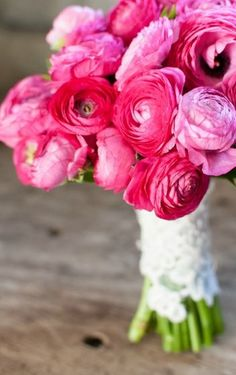 hot pink flowers Photo by Cheryl M Photography on Landlocked Bride via Lover.ly.