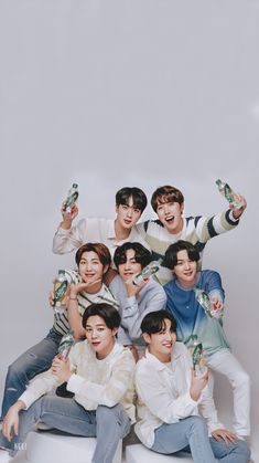an edited wallpaper of bts' chilsung cider shoot Foto Bts, Bts Photo, Jungkook Jimin, Bts Taehyung, Bts Bangtan Boy, Kpop, Bts Group Photos, Bts Aesthetic Pictures, Album Bts