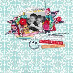 digital scrapbook layout using Happy Snaps by Sugary Fancy Designs + Meghan Mullens