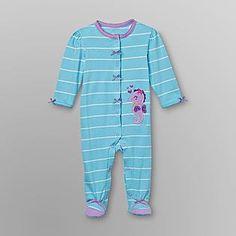 4abbdb90fb23 Little Wonders- -Infant Girl's Footed Sleeper Pajamas Future Daughter, Girl  Clothing, Pajamas
