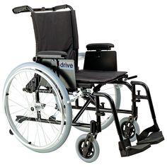 "Drive ak516ada-asf Cougar Ultra Lightweight Rehab Wheelchair, Swing away Footrests, 16"" Seat"