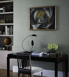 Zoffany - Silk Plain Wallpaper - Teal