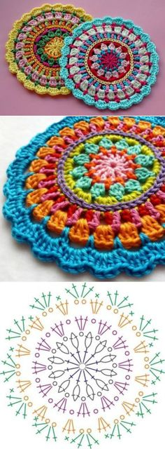 FREE Mandala (Crochet) - Pinned by intheloopcrafts.blogspot.co.uk