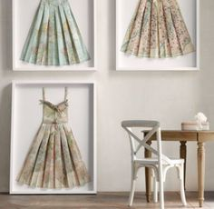RH baby&child's Hand-Folded Vintage Map Dress:High style with a hand-folded…