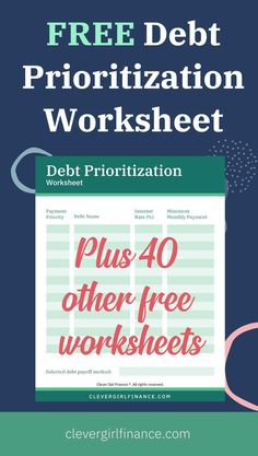 When it comes to paying down debt, the debt snowball method can be most effective. Create a priority list of debt to tackle first to help you get out of debt once and for all with our completely free debt prioritization worksheets. #debtsnowball #payingoffdebt #becomingdebtfree #howtopayoffdebt #payingoffdebt #Payoffdebt Budgeting Tools, Budgeting Money, Paying Off Student Loans, Debt Snowball, Saving For College, Create A Budget, Budget Template, Get Out Of Debt, Debt Payoff