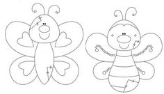 Ateliê Arte Bem Bolada: Bloquinhos com molde Wool Applique, Embroidery Applique, Embroidery Patterns, Coloring Books, Coloring Pages, Animal Templates, Felt Fabric, Felt Toys, Felt Animals