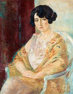 Isaac Grunewald (1889-1946) - Portrait of a Lady