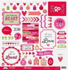 Love, red and pink doodlebug   Design Inc Blog: Introducing the NEW Lovebugs Collection + Giveaway