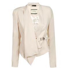 BY MALENE BIRGER Fluid Clasp Front Drape Jacket