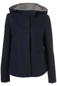 short hooded swing coat/ Topshop