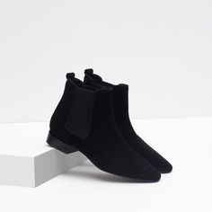 Image 7 of FLAT LEATHER ANKLE BOOTS from Zara