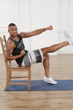 3 Flat-Ab Exercises From Shaun T — and All You Need Is a Chair