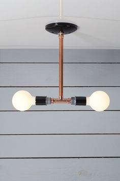 Industrial Lighting Drop Pendant Copper Pipe Light by IndLights